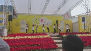 クリスプロジェクト社員の子どもさんのダンスステージ